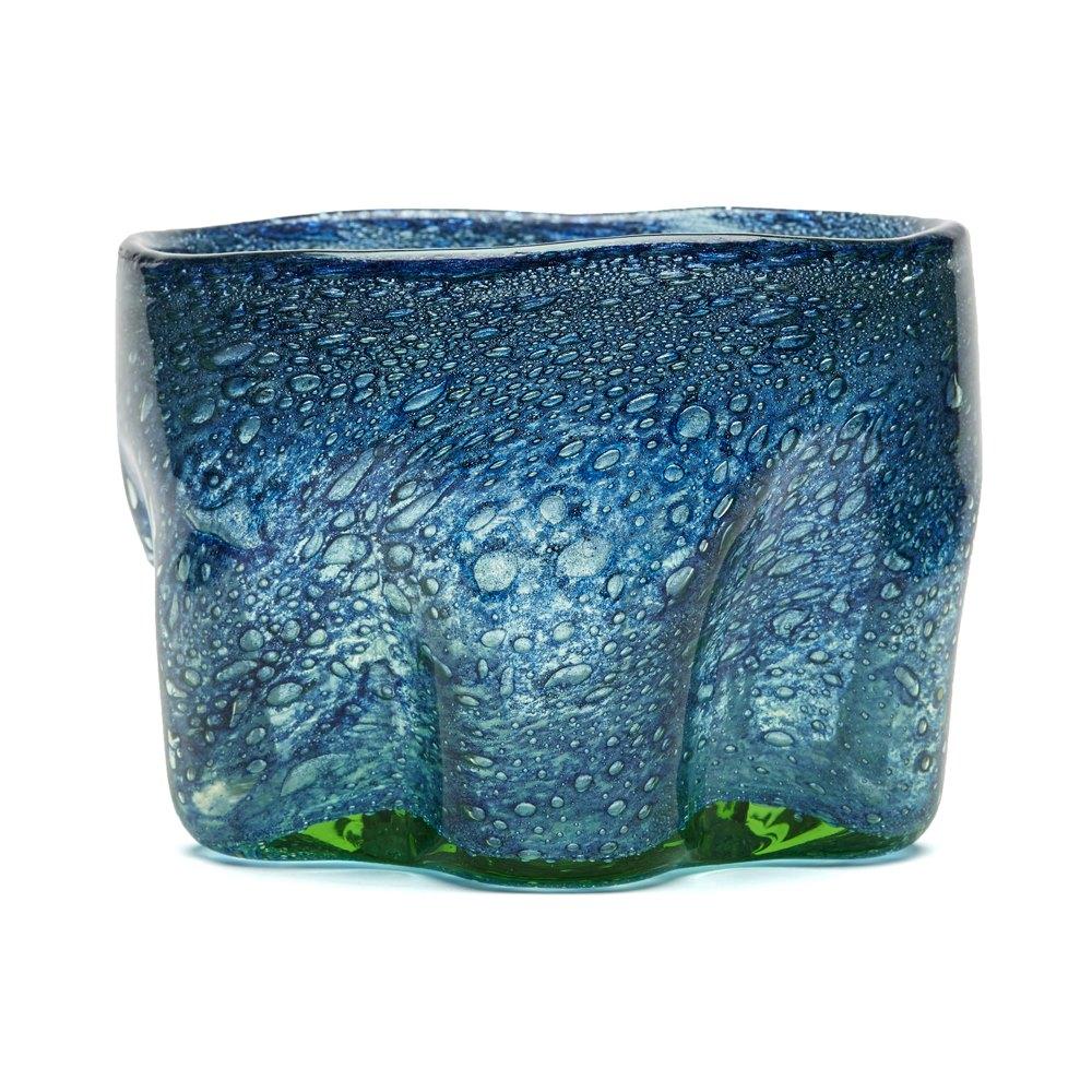 Benny Motzfeldt Bubble Inclusion Glass Bowl 20th C 20th Century