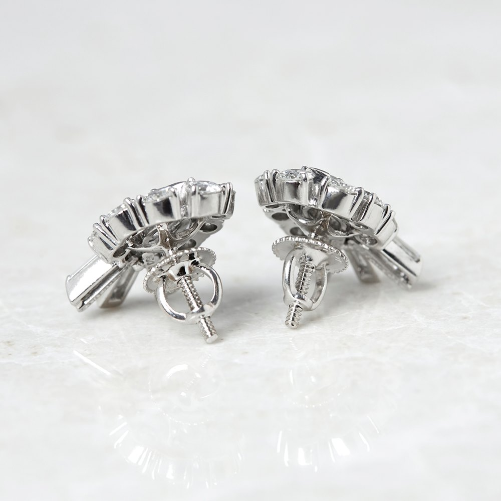 Tiffany & Co. Palladium 2.70ct Diamond Stud Earrings