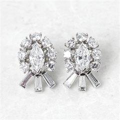 Tiffany & Co. Palladium 2.70ct Diamond Stud Earrings