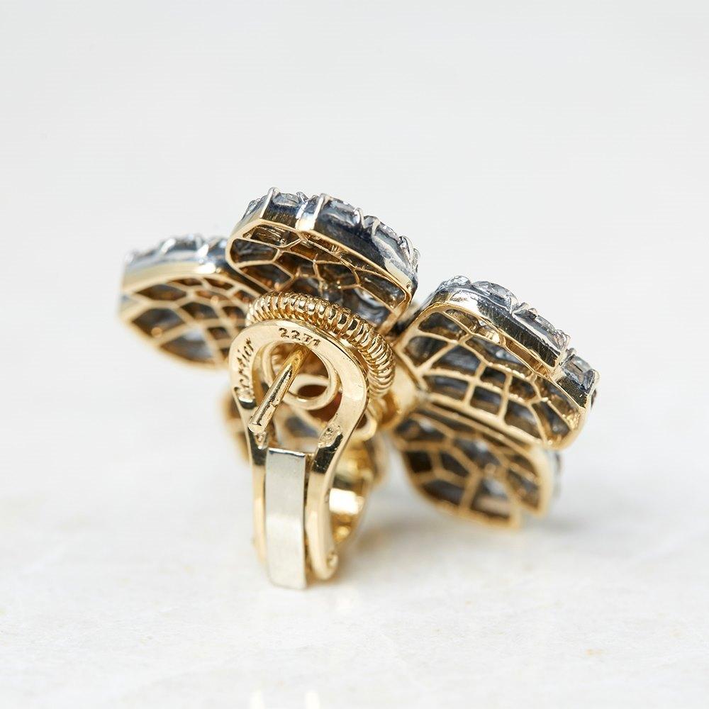 Cartier 18k White Gold 3.07ct Pink Tourmaline & 5.10ct Diamond Earrings