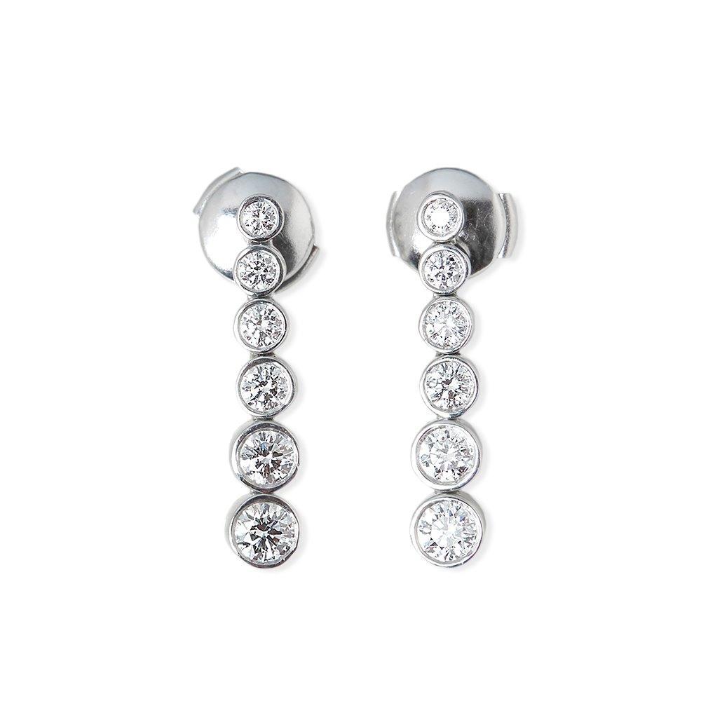 Tiffany & Co. Platinum Diamond Drop Jazz Earrings
