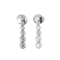 Tiffany & Co. Platinum Diamond Drop Jazz Earrings