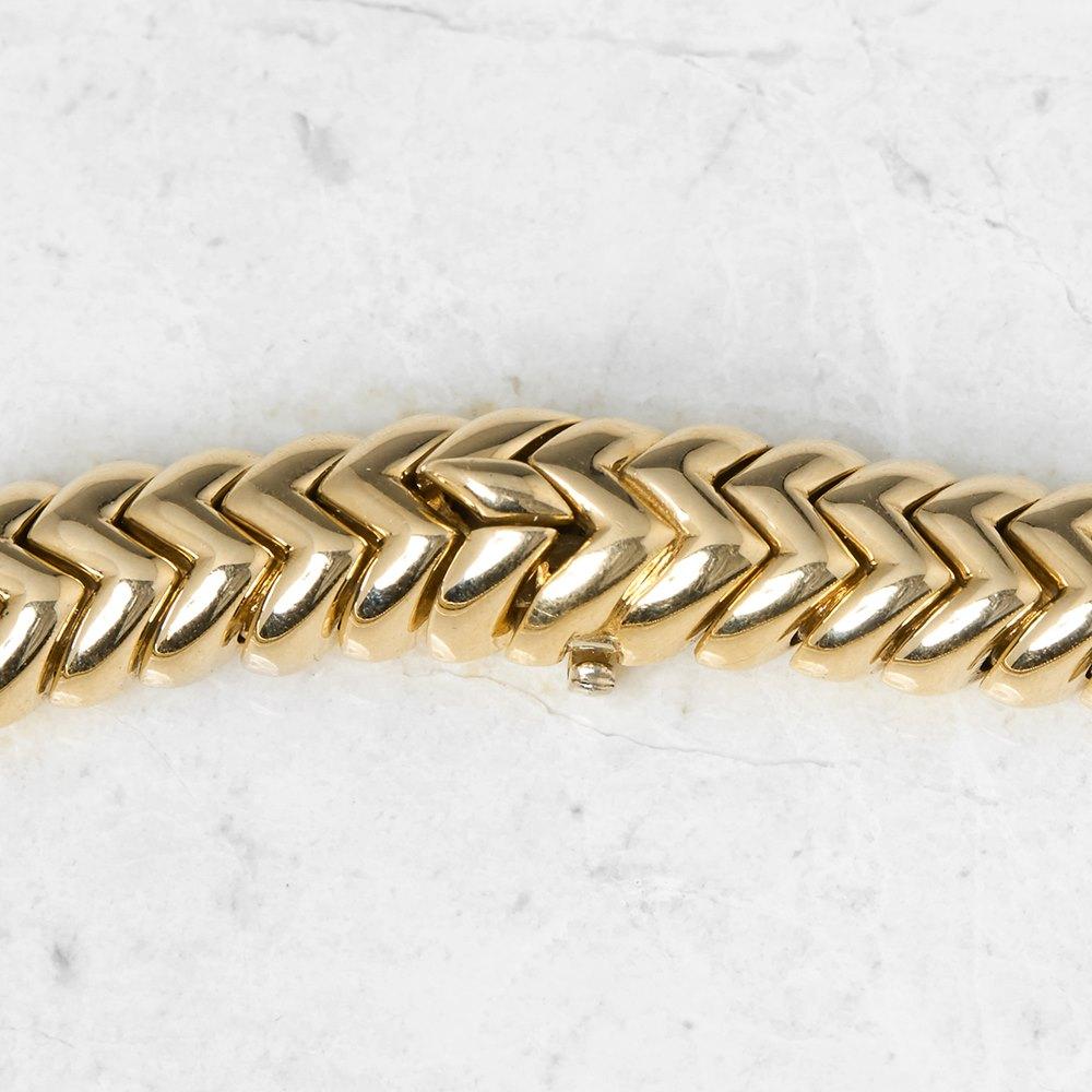 Bulgari 18k Yellow Gold Diamond Link Statement Necklace