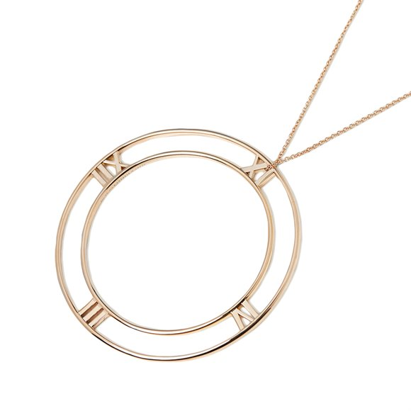 Tiffany & Co. 18k Rose Gold Large Atlas Pendant Necklace