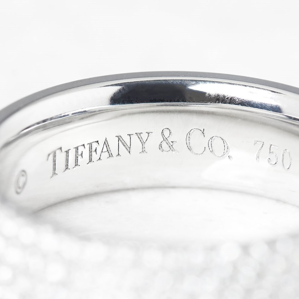 Tiffany & Co. 18k White Gold Five Row 0.90ct Diamond Metro Band