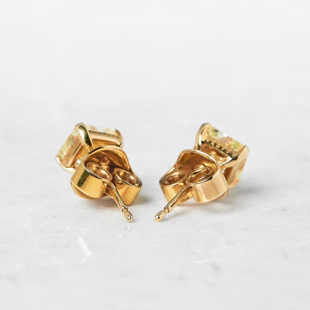 Graff Diamonds 18k Yellow Gold 2.66ct Yellow Diamond Stud Earrings