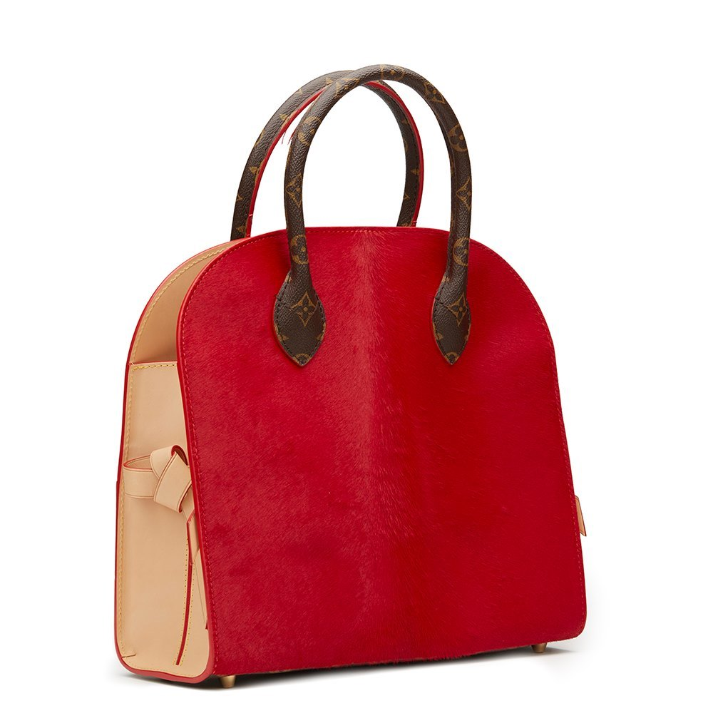 6d485cfc9dc Studded Canvas, Red Pony Hair & Cowhide Shopping Bag Christian Louboutin