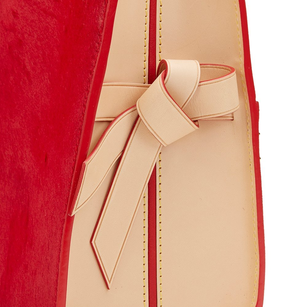 fb45f20c796 Studded Canvas, Red Pony Hair & Cowhide Shopping Bag Christian Louboutin