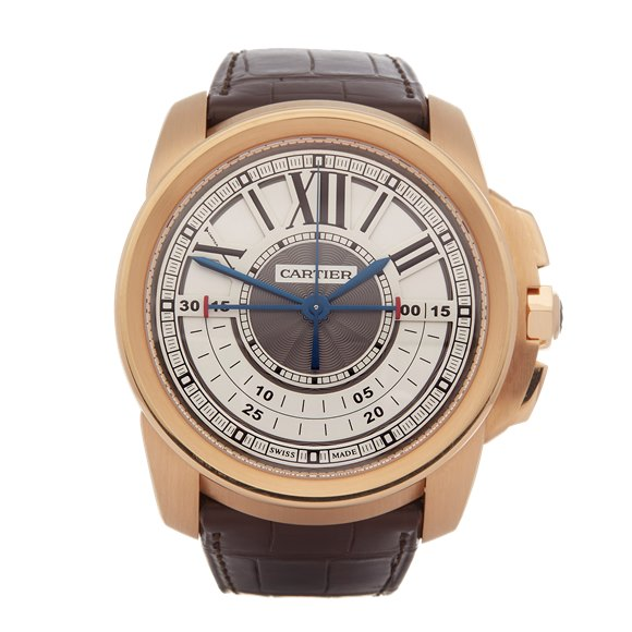 Cartier Calibre Central Chronograph 18K Rose Gold - W7100004 or 3242