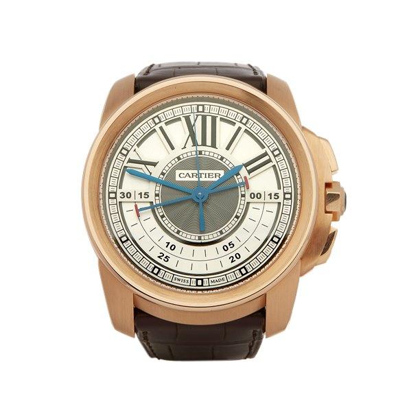Cartier Calibre Central Chronograph 18K Rose Gold - W7100004 or 3242