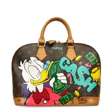 Louis Vuitton Xupes x Year Zero London Hand-painted Ca$h Money 'C.R.E.A.M.' Alma PM 1/3