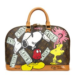 Louis Vuitton Xupes x Year Zero London Handpainted Ca$h Money 'Greed is Good' Alma PM 2/3