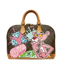 Louis Vuitton Xupes x Year Zero London Hand-painted Ca$h Money 'For the Love of Money' Alma PM 3/3