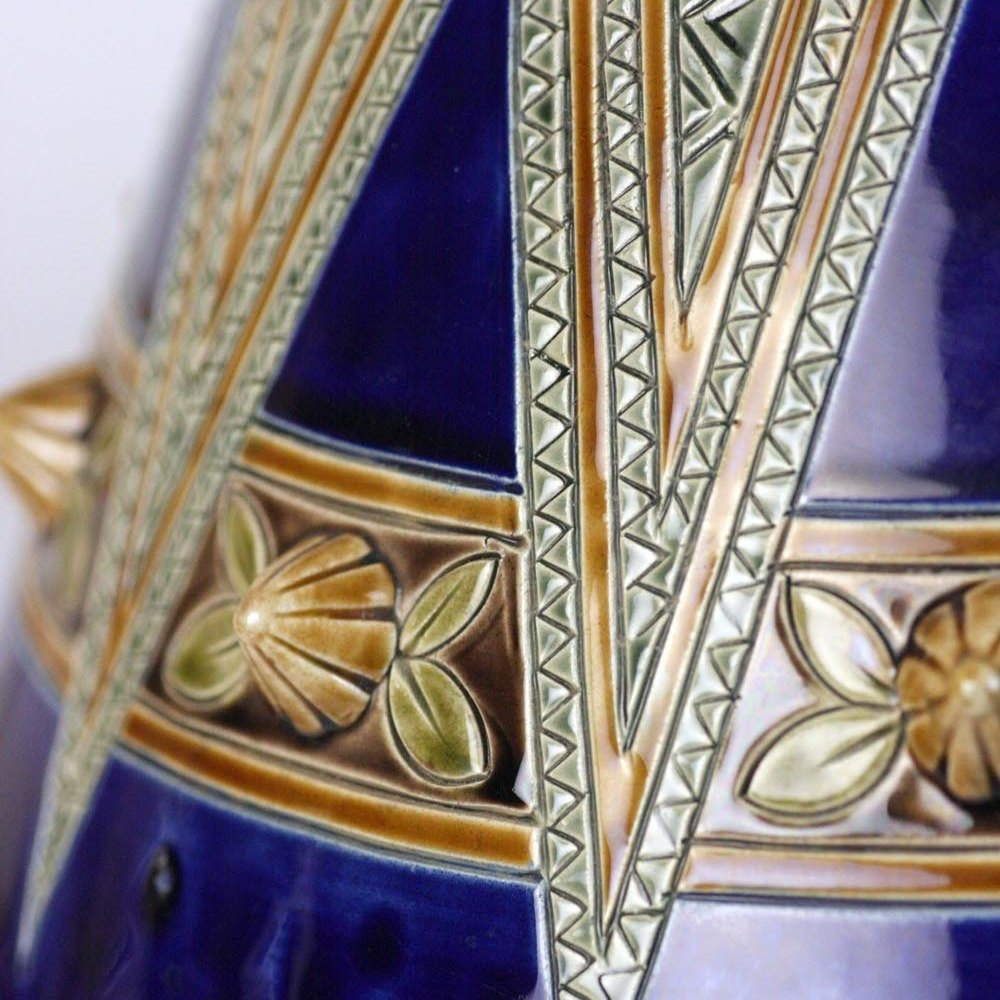 Antique Sarreguemines Majolica Vase 19th C.