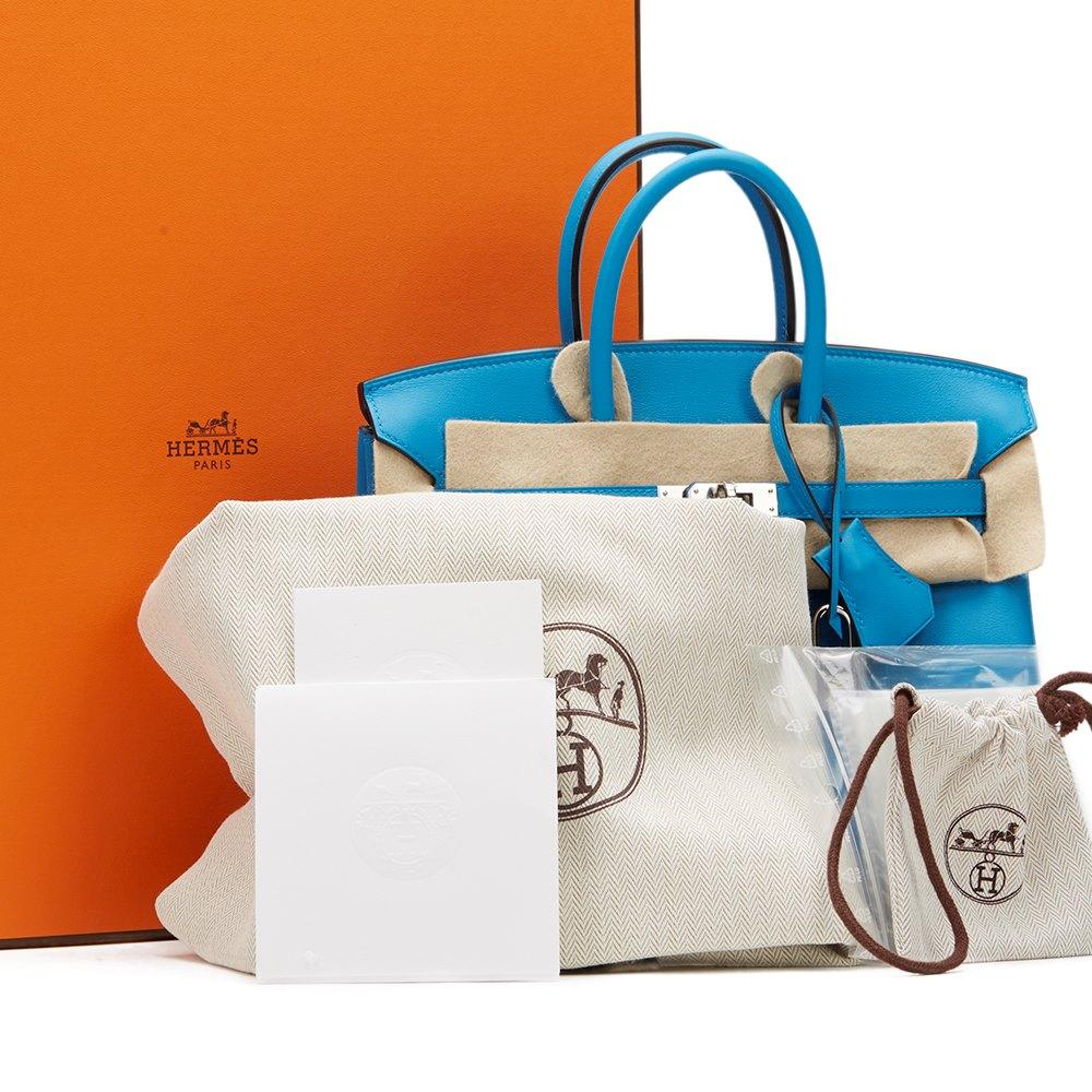 dc55514043 Hermès Blue Zanzibar Swift Leather Birkin 25cm