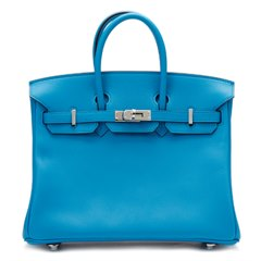 Hermès Blue Zanzibar Swift Leather Birkin 25cm