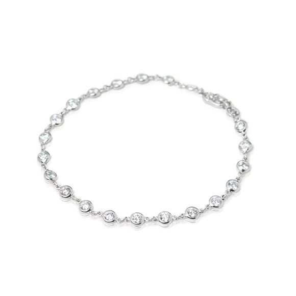 Tiffany & Co. Platinum 2.30ct Diamonds By The Yard Bracelet