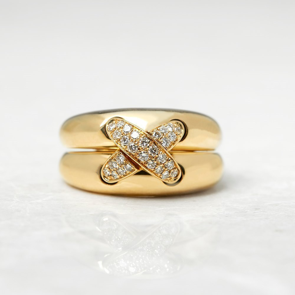 Chaumet 18k Yellow Gold 0.30ct Diamond Liens Ring