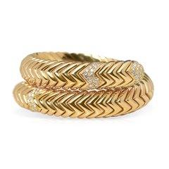 Bulgari 18k Yellow Gold 2.00ct Diamond Serpenti Bracelet