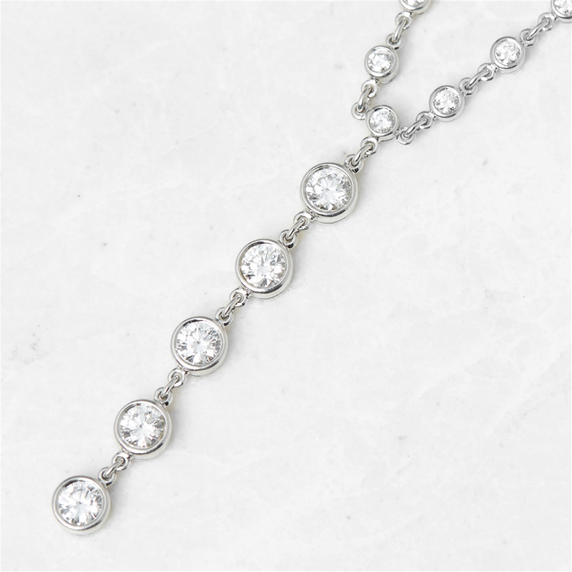 Tiffany & Co. Platinum Diamond Jazz T-Drop Design Necklace