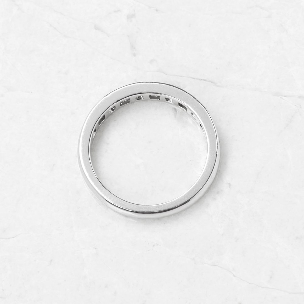 Tiffany & Co. Platinum 0.60ct Diamond Half Eternity Ring