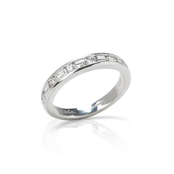 Tiffany & Co. Platinum 0.60ct Diamond Half Eternity Ring
