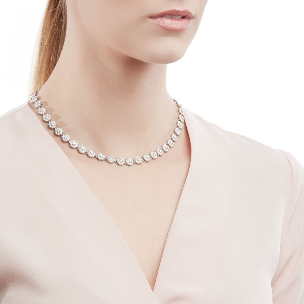 Tiffany & Co. Platinum Diamond Statement Circlet Necklace