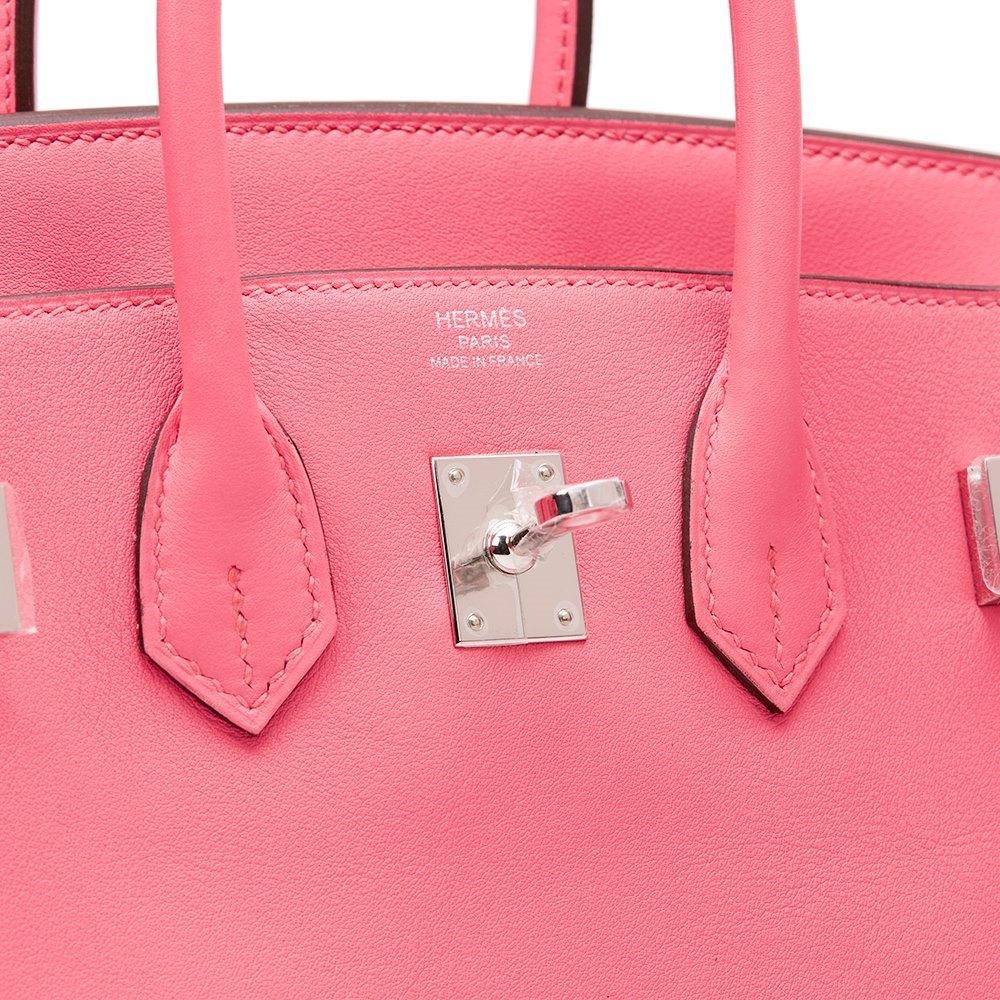 d74b5badee Hermès Rose Azalee Swift Leather Birkin 25cm