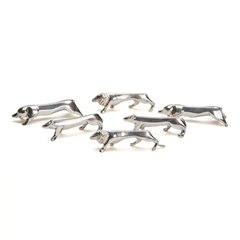 Sandoz, Gallia Christofle Silver Plated Animal Knife Rests