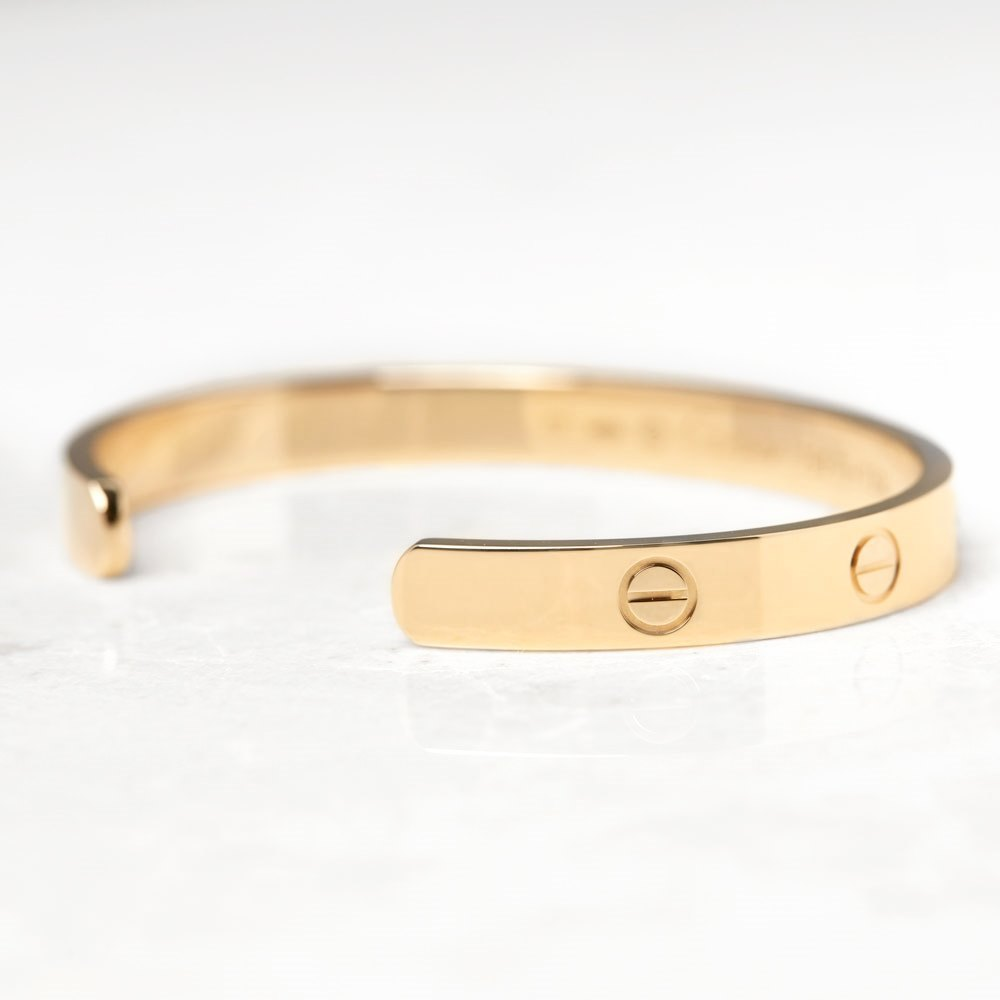 Cartier 18k Yellow Gold Open Love Cuff Bracelet