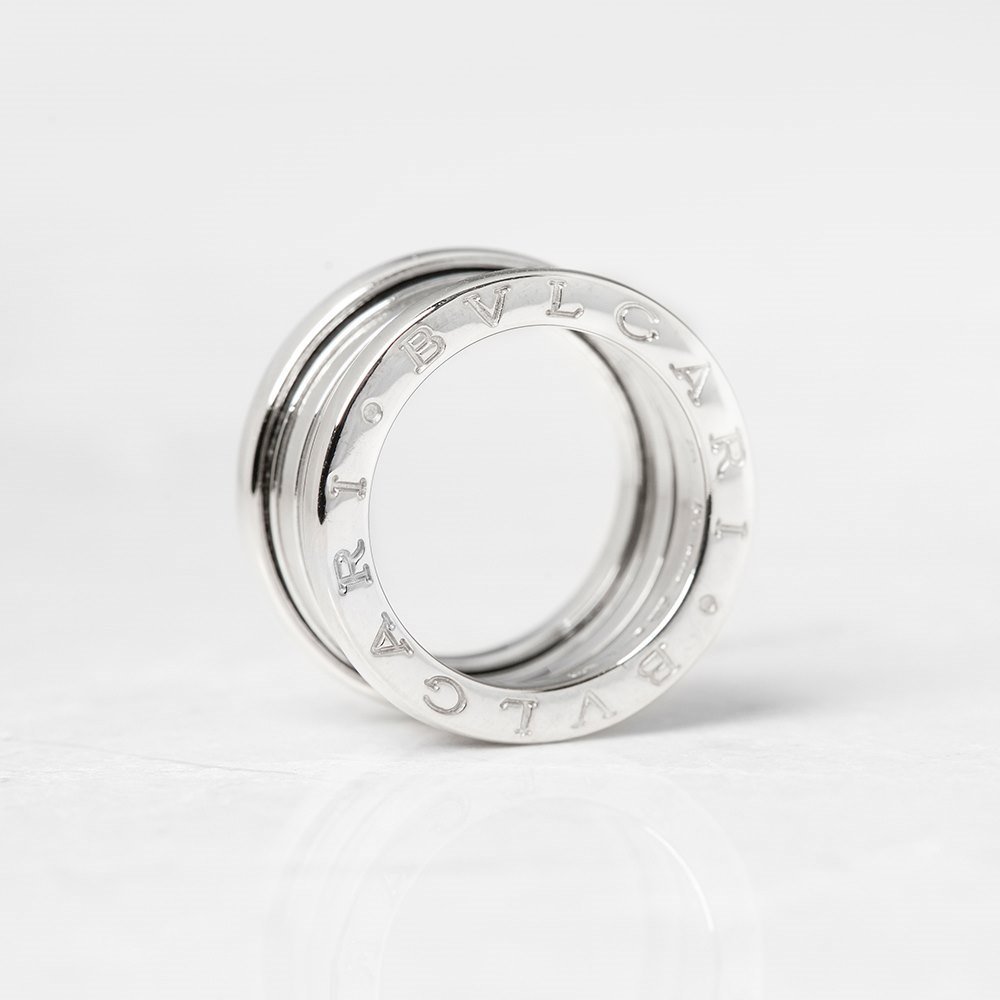 Bulgari 18k White Gold 4 Band B.Zero 1 Ring Size K.5