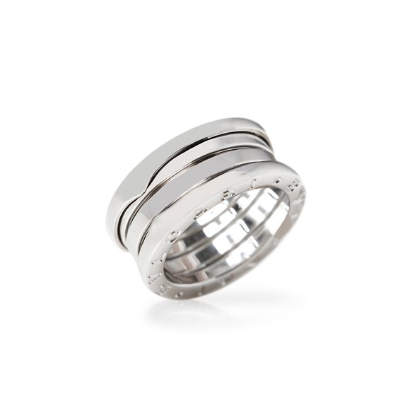 Bulgari 18k White Gold 4 Band B.Zero 1 Ring Size J