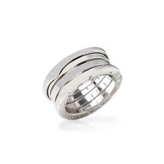 Bulgari 18k White Gold 4 Band B.Zero 1 Ring Size J