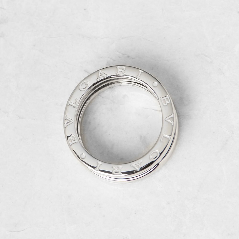 Bulgari 18k White Gold 4 Band B.Zero 1 Ring Size M.5