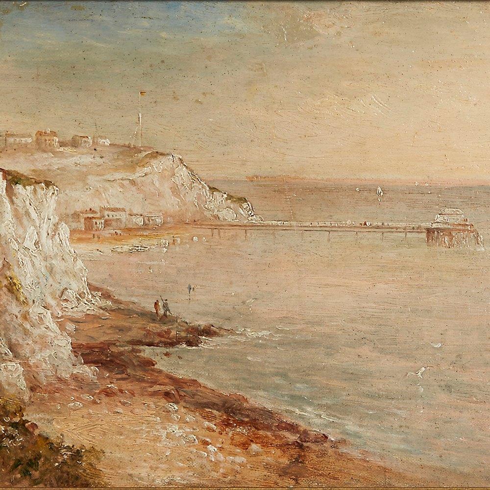 GUSTAVE DE BREANSKI, COASTLINE 19TH C. 19th Century