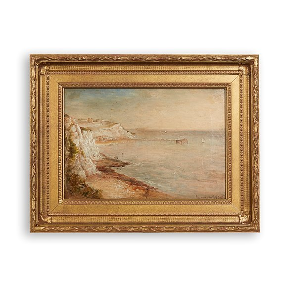 Gustave De Breanski (C.1856 - 1898) Coastline Oil On Canvas