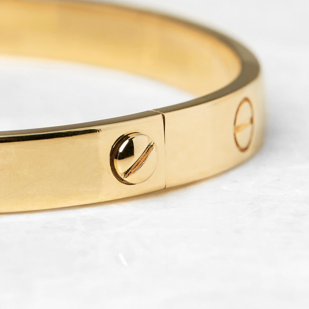 Cartier 18k Yellow Gold Love Bangle