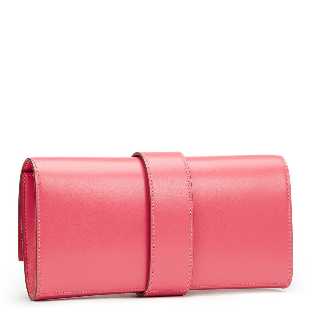 440ce78e13ba Hermès Rose Lipstick Tadelakt Leather Medor 23 Clutch