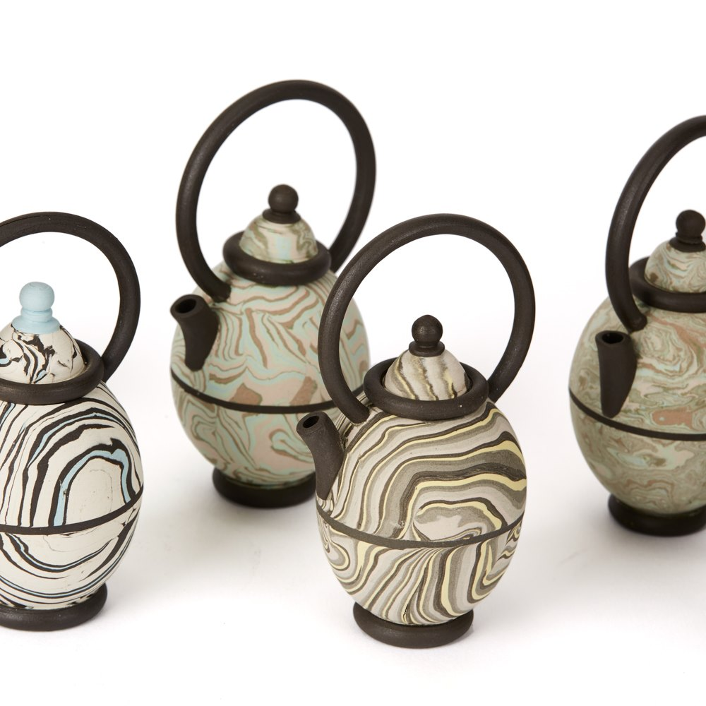 Roger Michell Studio Pottery Teapots Dated 1984