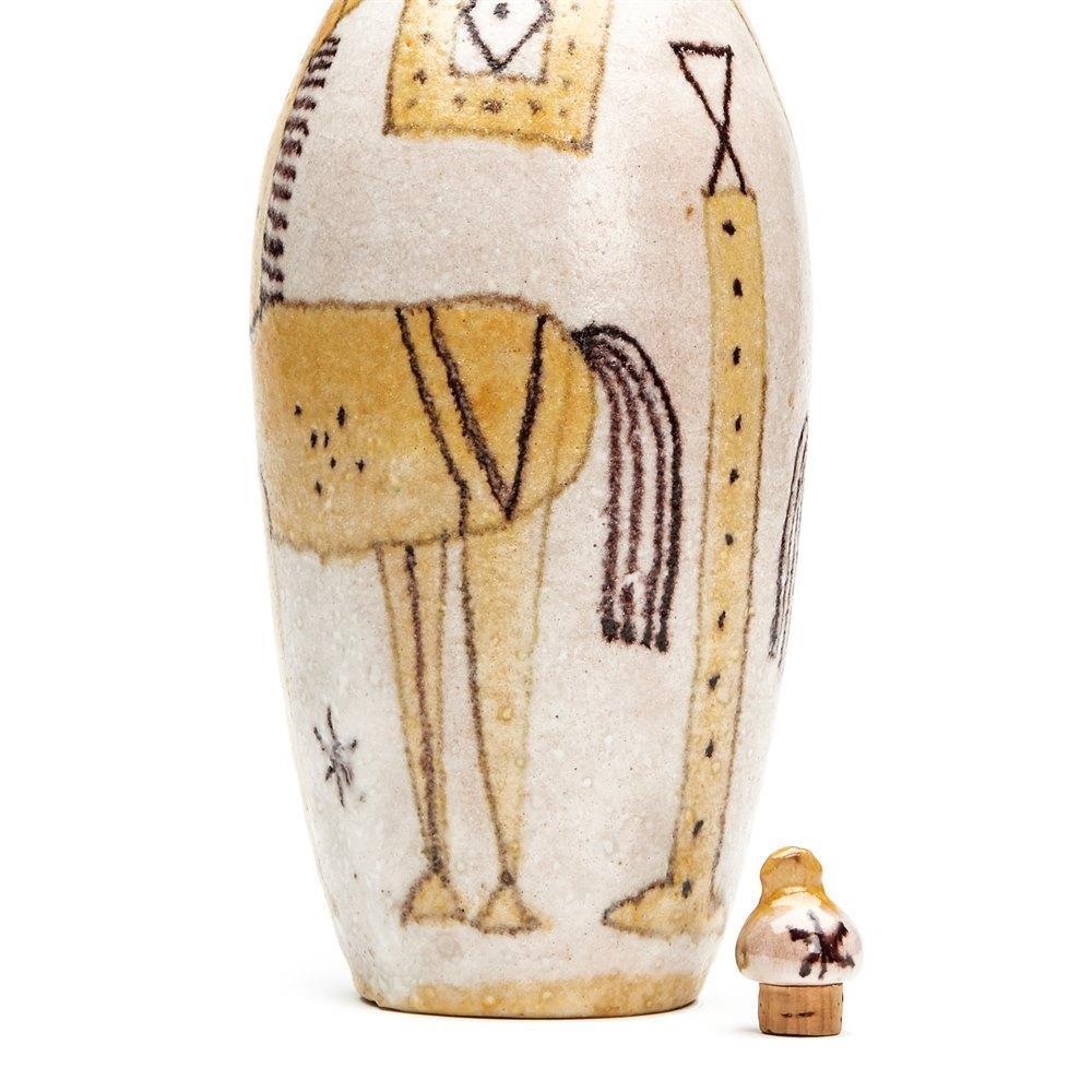 Guido Gambone Pottery Bottle 20th C. Mid 20th Century