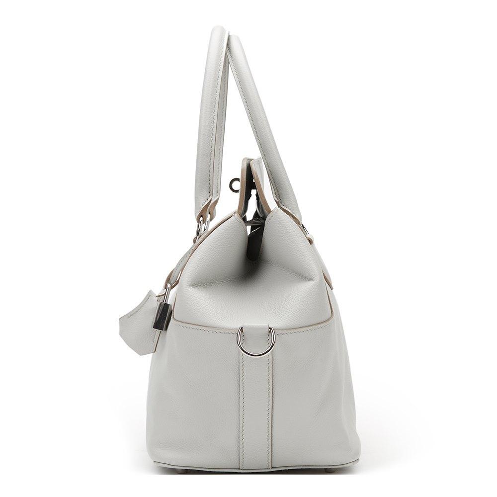 653058977e49 Hermès Gris Perle Evercolor Leather Toolbox 20