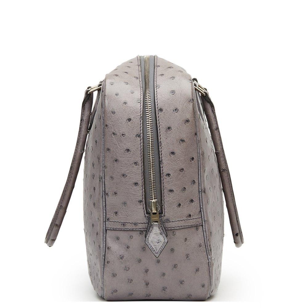 614807234b73 ... sweden hermès gris agate ostrich leather plume 32cm b6b82 6af1d