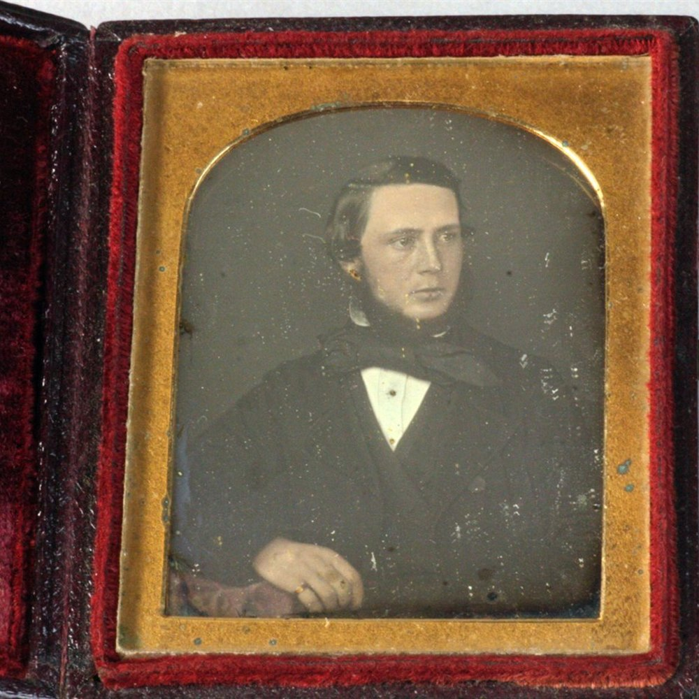 Leather Cased Daguerreotype Portrait Circa 1839-50