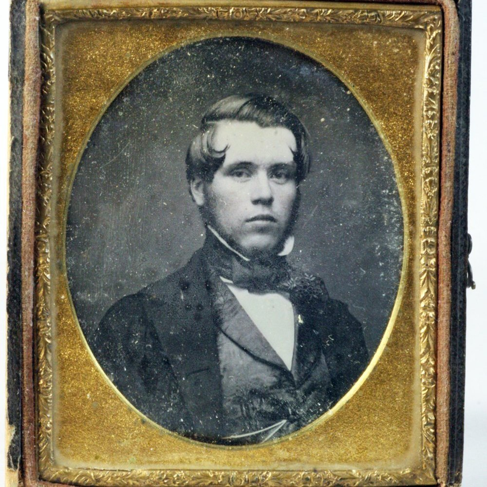 Antique Cased Daguerreotype Portrait Circa 1839-50