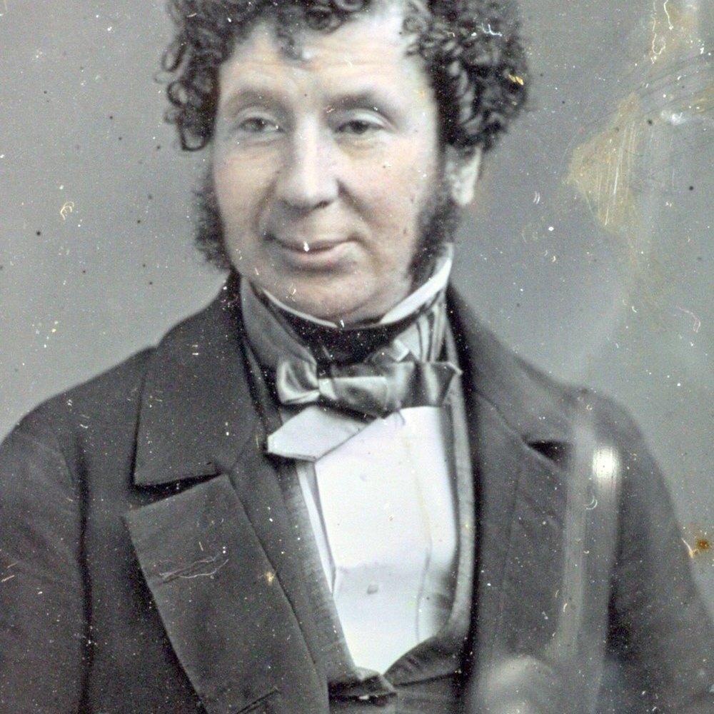 Antique Leather Cased Half Plate Daguerreotype Portrait By John Mayall, London C.1850