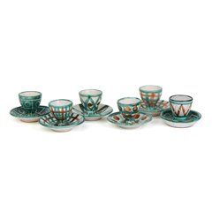 ROBERT PICAULT VALLAURIS ART POTTERY SIX EGGCUPS 1950'S