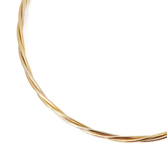 Cartier 18k Yellow, White & Rose Gold Trinity Necklace