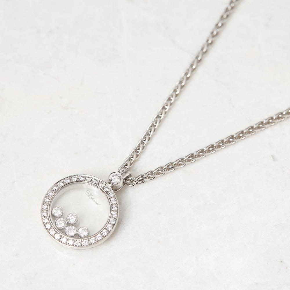 Chopard 18k white gold happy diamonds necklace com1045 second hand chopard 18k white gold happy diamonds necklace aloadofball Gallery