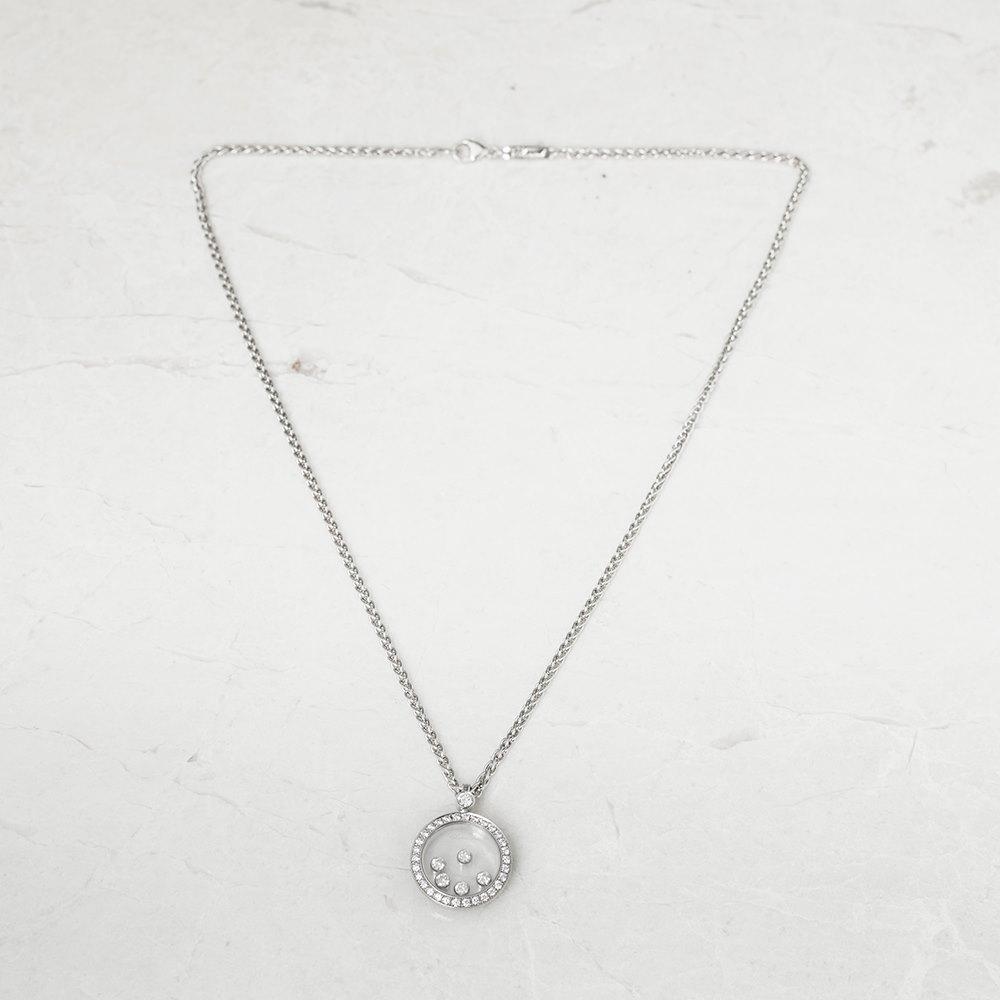 Chopard 18k White Gold Happy Diamonds Necklace