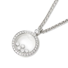 Chopard 18k White Gold Happy Diamonds Necklace